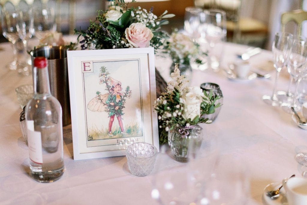 Lillibrooke Manor & Barns wedding venue table decorations