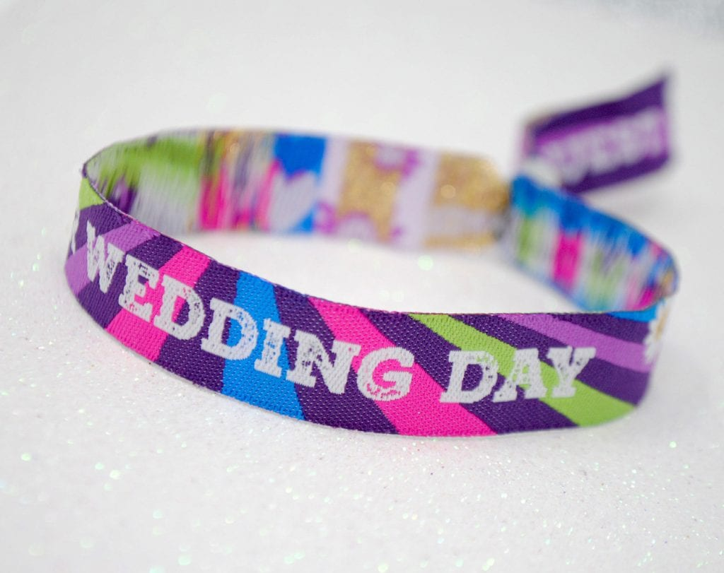 festival wrist band wedding favour