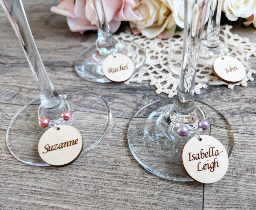 wedding favour ideas - wine glass charms