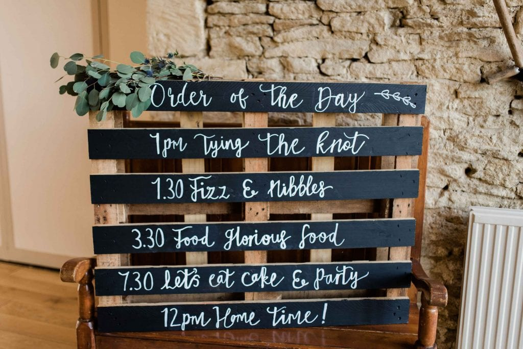 wedding ideas timings