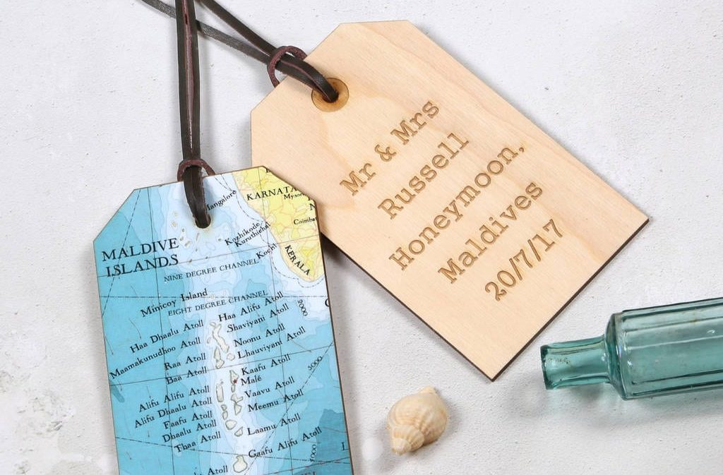 Amazing Wedding Gifts For The Bride and Groom Luggage tags 2