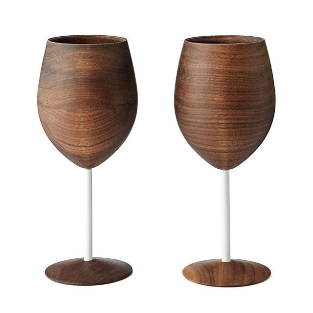 5th Anniversary gifts wooden wine glasses