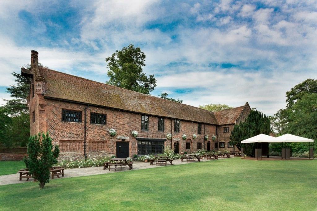 Unique Outdoor Wedding Venues in London tudor barn elthem 2