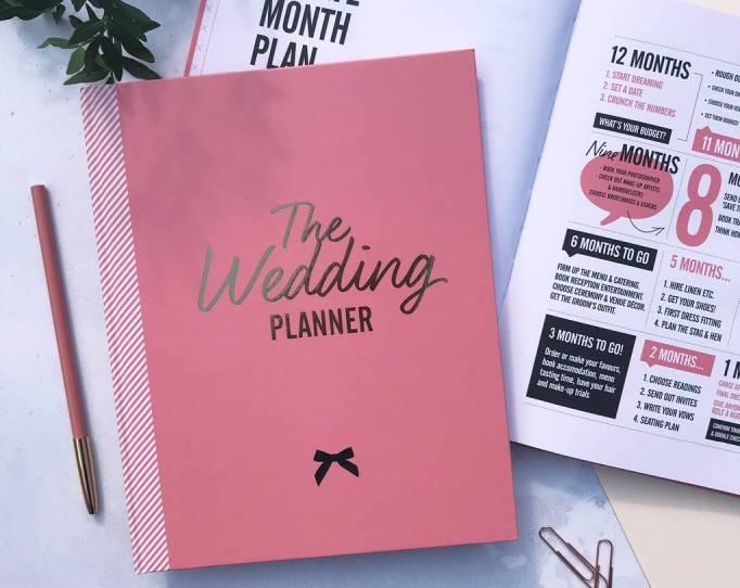 Pink Wedding Planner Book