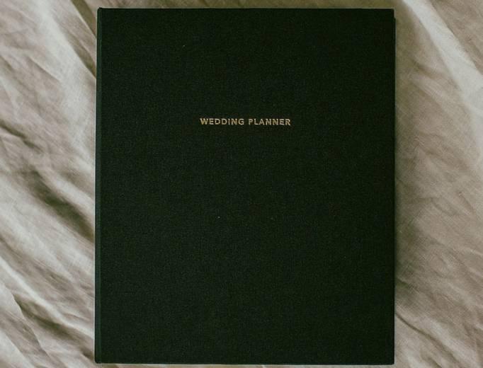 Wedding Planner Book Black