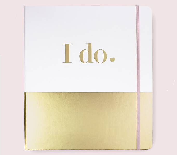 Wedding Planner Books White and Gold
