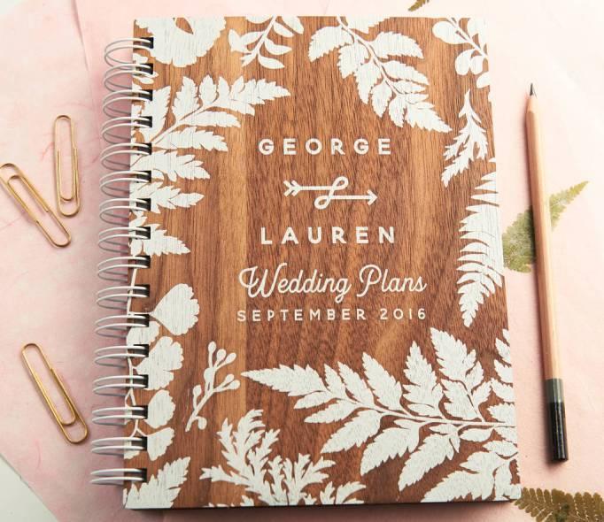 Wedding Planner Books Rustic