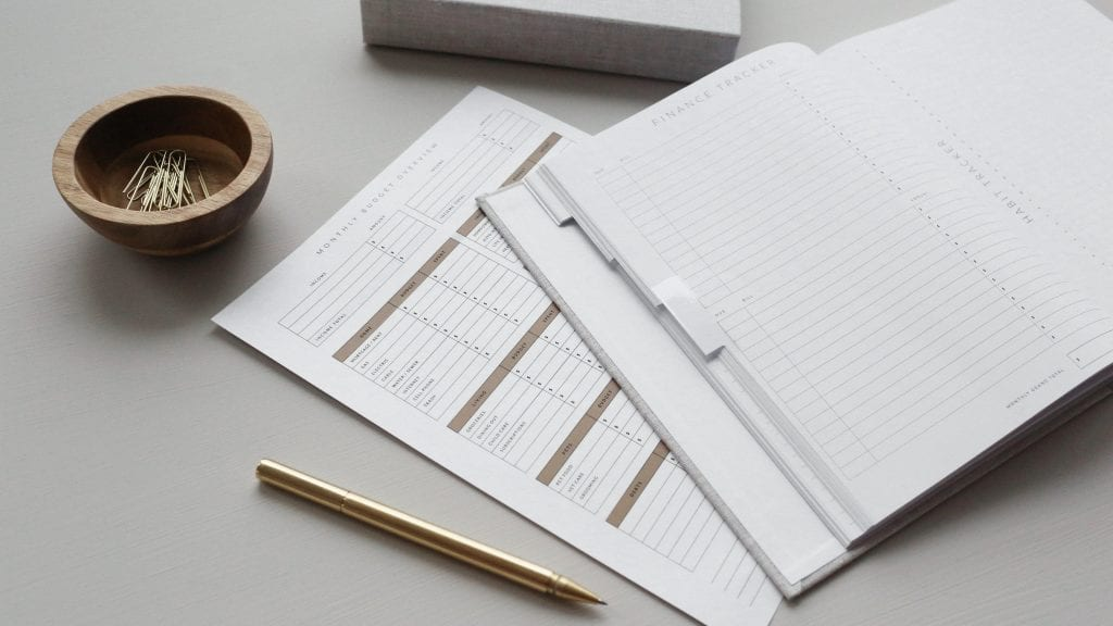 Wedding planning budget notes