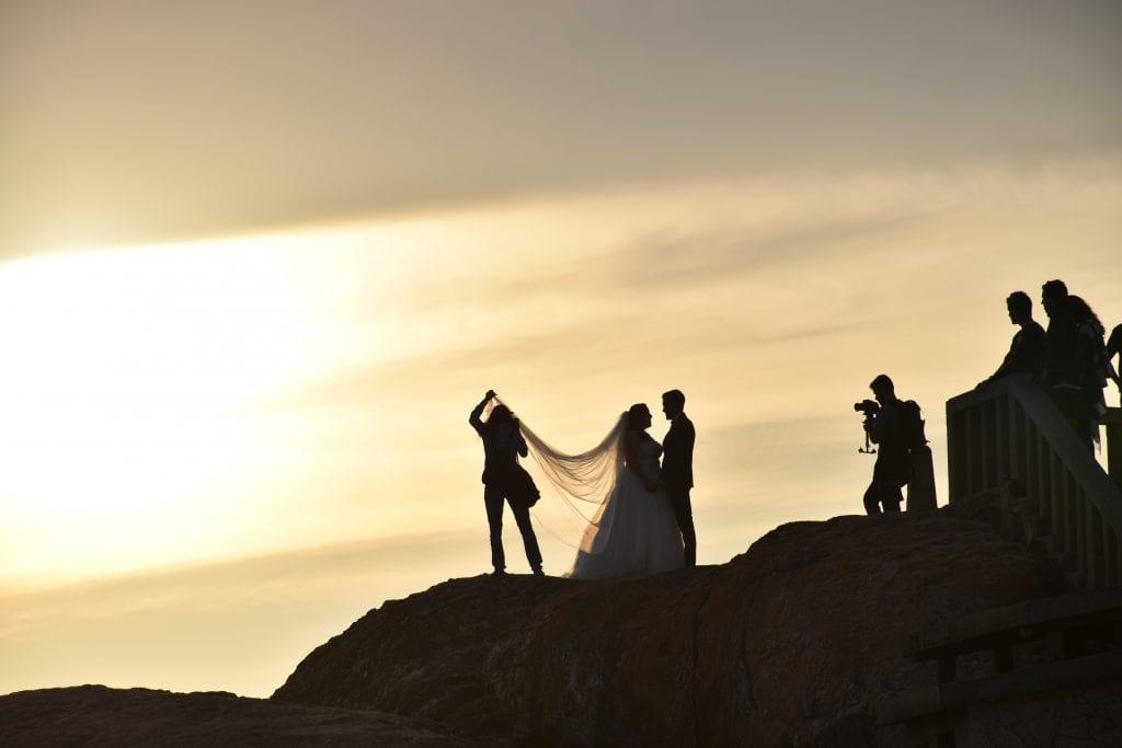 Wedding photographer behind the senes