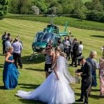 Wood Hall Hotel The bridal party arrives by helicopter.jpg 40