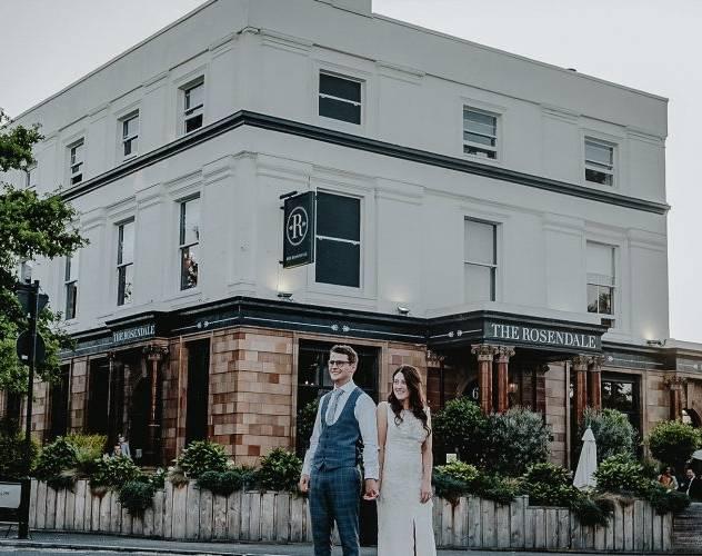 The Rosendale Pub exterior wedding venue South London