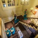 Wood Hall Hotel staircase bride.jpg 39