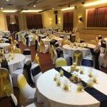 Best Western Aberavon Beach Hotel Ballroom Navy & Yellow facing stage.jpg 11