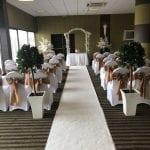 Best Western Aberavon Beach Hotel Quarterdeck Ceremony white carpet.jpg 1