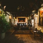 inside the Tithe Barn at Christmas
