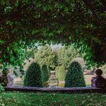 sunken water garden at Hinton Manor