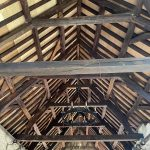 timber ceiling of the Tithe Barn HSME