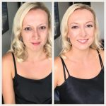 Blonde Before and After Makeup