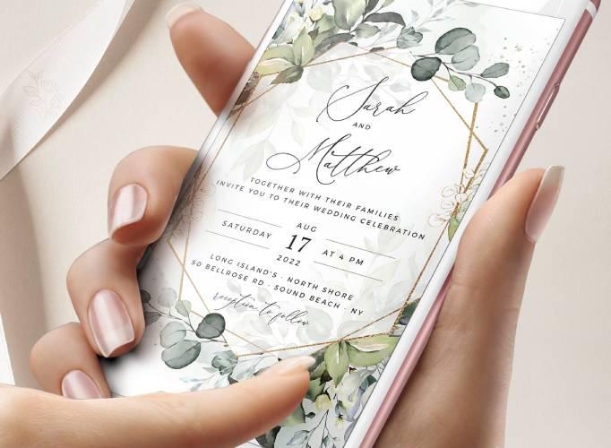 Eco Weddings E-vites