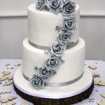 Heaven is a Cupcake grey roses wedding cake.jpg 12