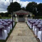 Park Hall Hotel and Spa Wedding Gazebo purple sash.jpg 5