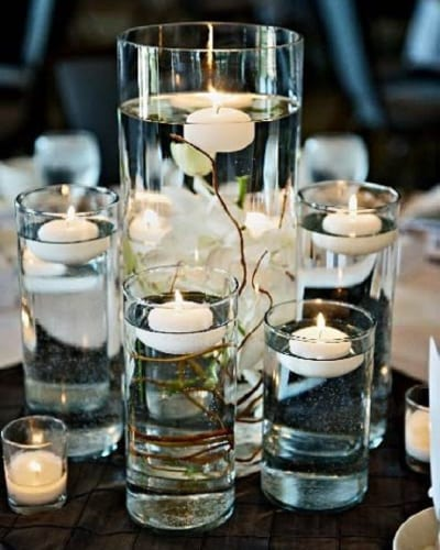 Budget Wedding Centrepieces