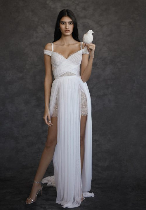 Stunning Short Wedding Dresses For Dana Harrel Browns Bride 21