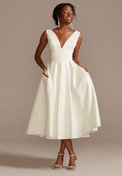 Stunning Short Wedding Dresses For David's Bridal Tea Length 58