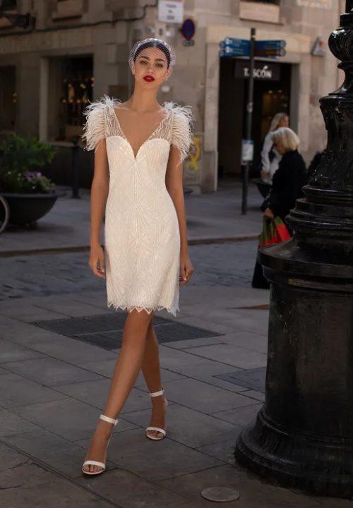 Stunning Short Wedding Dresses For Pronovios LWDO5 28