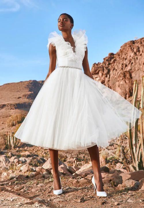 Stunning Short Wedding Dresses For Pronovios White Edit 55