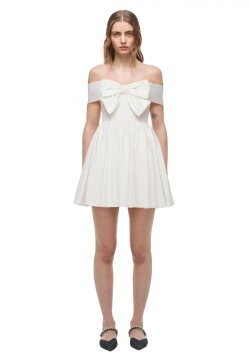 Stunning Short Wedding Dresses For Self Portrait White Bow 36